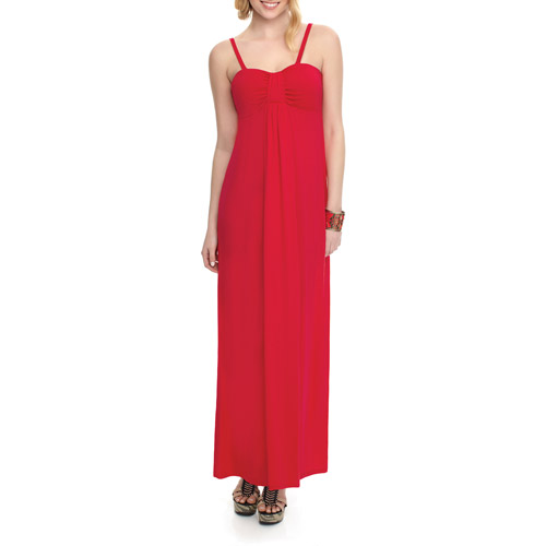 Miss Tina Women's Waterfall Maxi Dress with Removable Straps