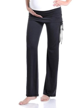 786ad3efde Product Image Beachcoco Women's Maternity Fold Over Ruched Drawstring Pants  (S, Black)