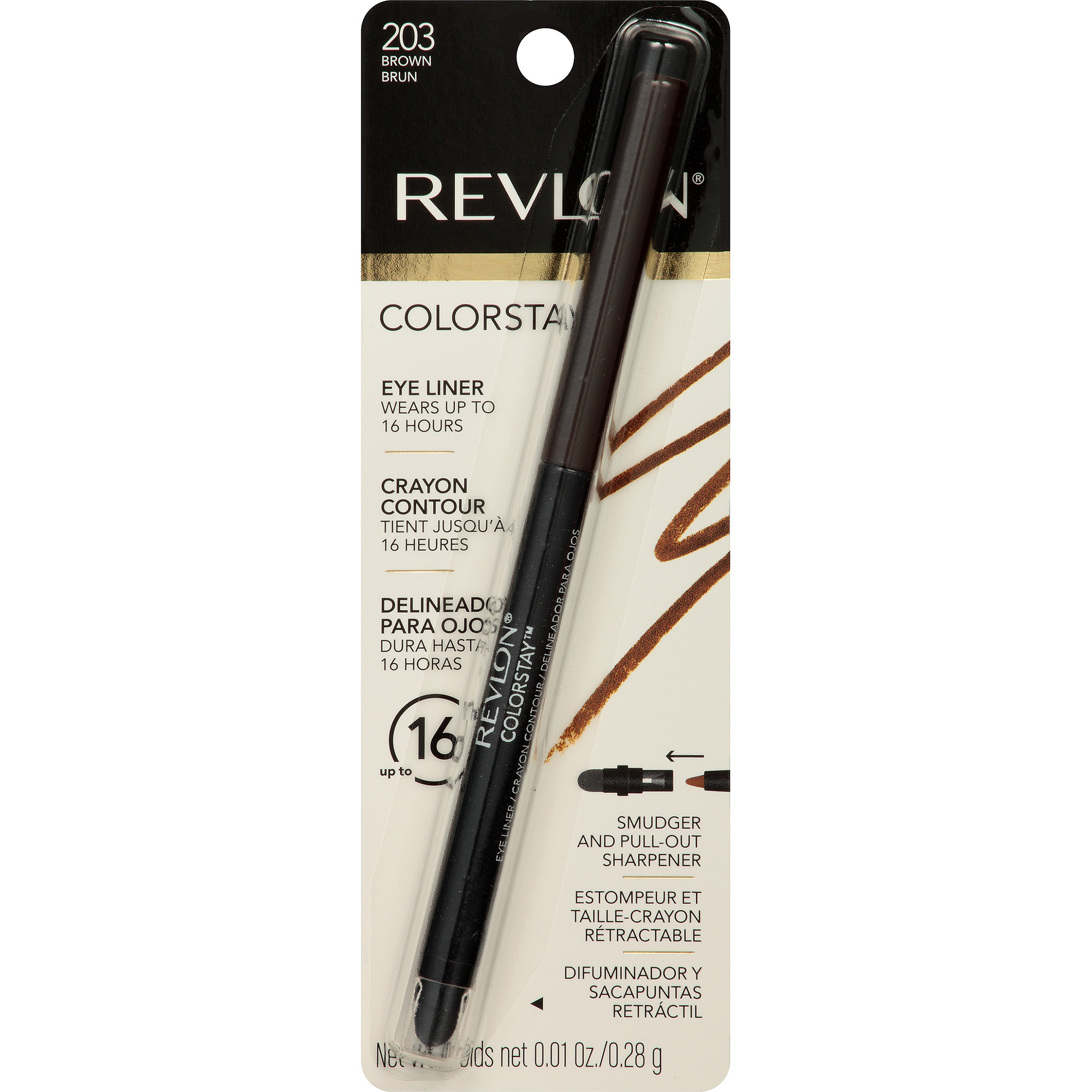 Revlon ColorStay Eyeliner, 203 Brown, 0.01 oz