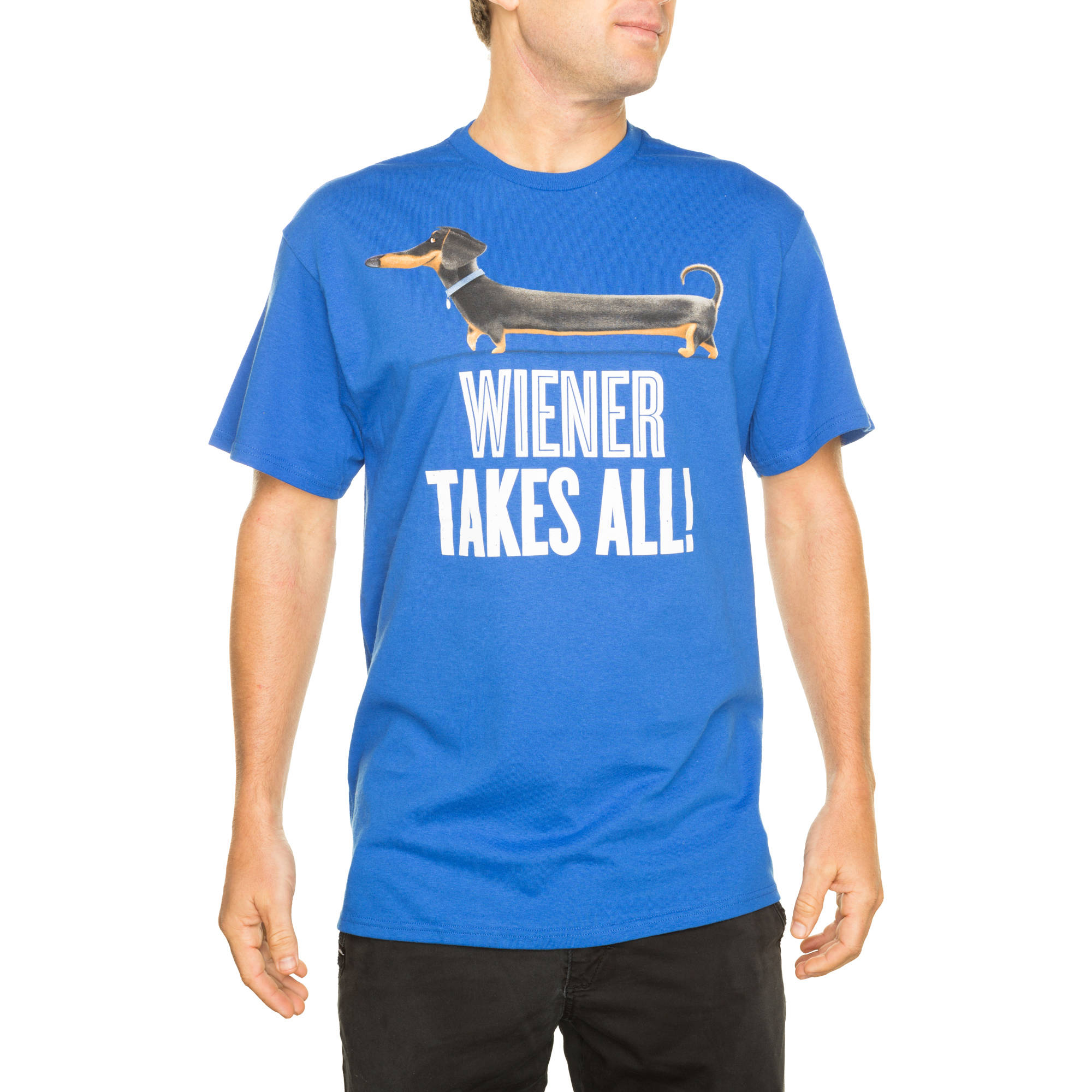 Secret Life of Pets Men's Wiener Takes All Graphic Tee