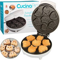 Animal Mini Waffle Maker by CucinaPro - Makes 7 Fun, Different Shaped Pancakes - Electric Non-stick Waffler is a Great Christmas Gift