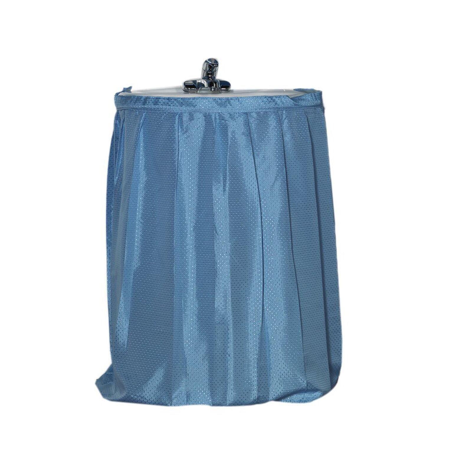 Fabric Bathroom Dobby Sink Skirt/Drape - Light Blue ...