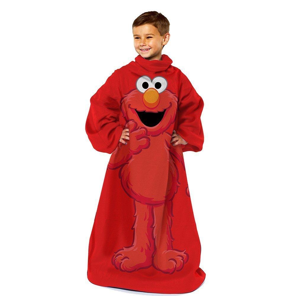Sesame Street Elmo Monster Hugs Blanket/SLEEVES Comfy Throw YOUTH