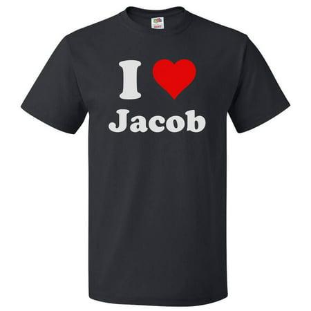 I Love Jacob T shirt I Heart Jacob Tee Gift](Jabot Shirt)