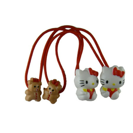 Hello Kitty Hair Bands (2 Piece)  Sanrio Hello Kitty Pony Tails