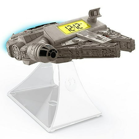Star Wars The Force Awakens Millennium Falcon Night Glow Alarm Clock ()