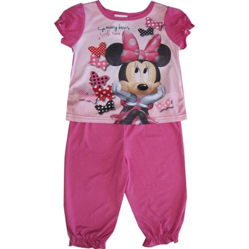 Disney Baby Girls Pink Minnie Mouse Short Sleeve Two Piece Pajama Set 12-24M