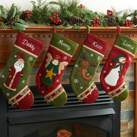 Personalized Country Character Christmas Stocking Available In Different Characters](Pet Christmas Stockings)