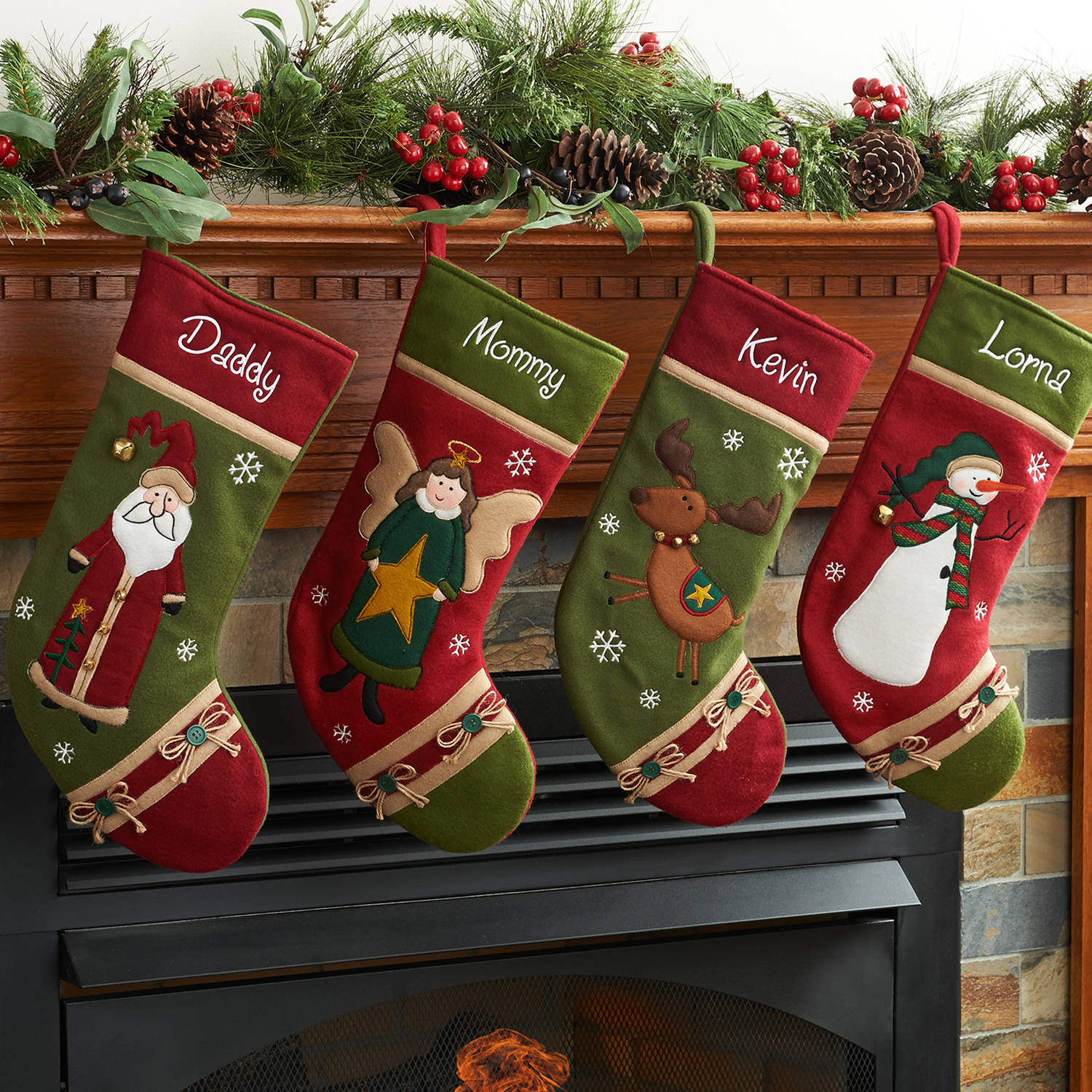 Personalized Country Character Christmas Stocking Available In Different Characters