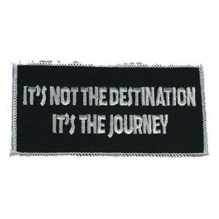 IT'S NOT THE DESTINATION IT'S THE JOURNEY PATCH RIDE ROAD TRIP BIKER (Best Motorcycle For Long Road Trips)