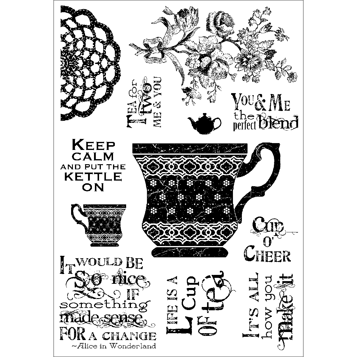 "Darcie's Clear Stamp 4""X5.5""-Cup Of Tea - image 1 of 1"