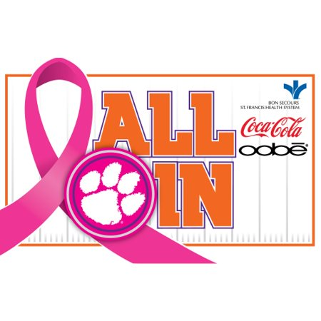 Clemson Tigers 2015 Breast Cancer Awareness Pin - No Size