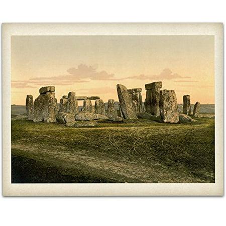 Lone Star Art Vintage Stonehenge Print - 11x14 Unframed Print - Great Home Decor