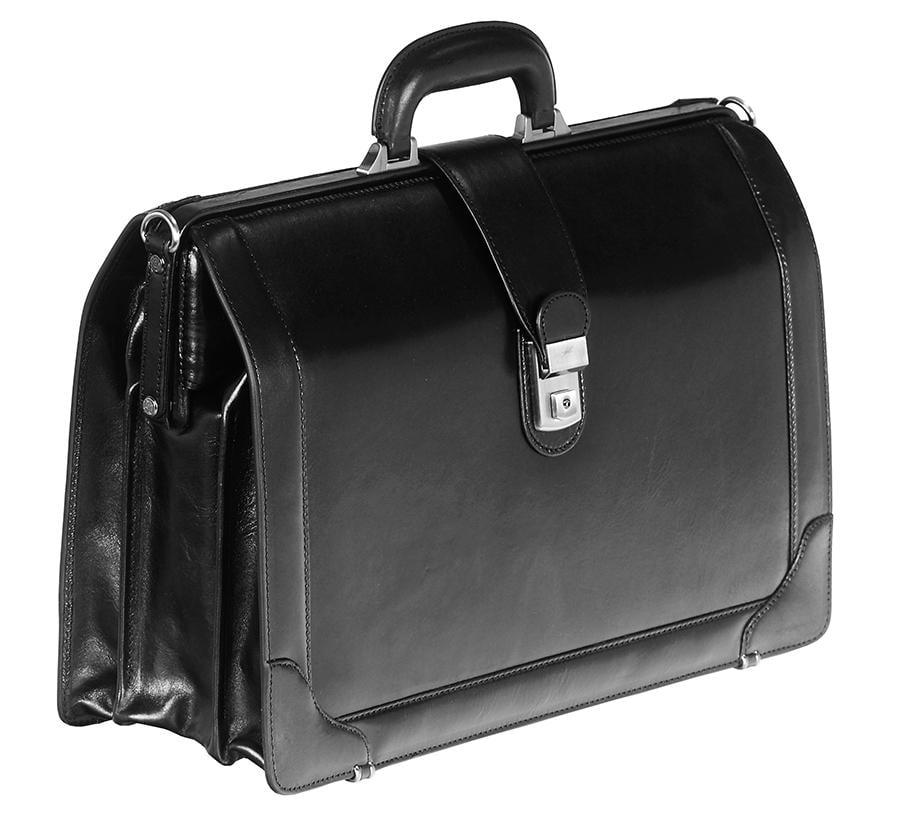 """Mancini Signature Luxurious Italian Leather 17"""" Laptop Briefcase"""