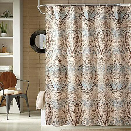 Popeven Luxury Shower Curtain Extra Long Set Watherproof Polyester Fabric Roman Style Fl Pa
