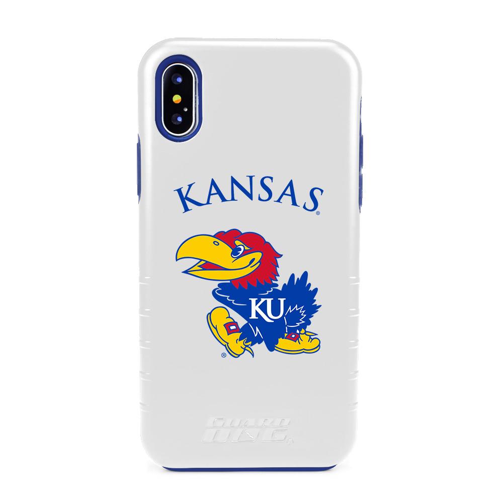 Kansas Jayhawks Hybrid Case for iPhone X / Xs - White