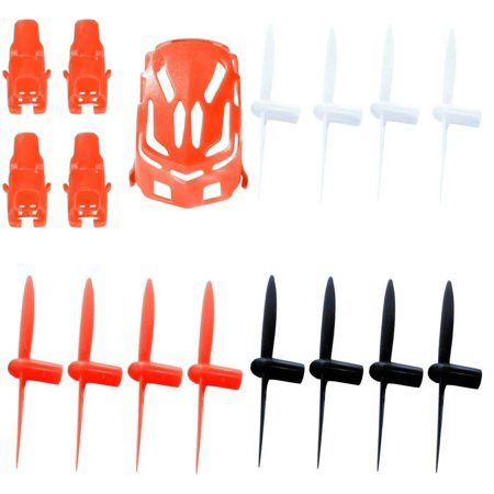 Hubsan Nano Q4 H111  Qty  1  Nano Body Shell H111 01 Red Quadcopter Frame W  Motor Supports  Qty  1  All Black Propeller Blade Set 32Mm Propellers Blades Props Quad Drone Parts  Qty  1   Qty  1  White
