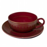 The Veda Company 3002RV Porcelain Tea Cup & Saucer - Revitalize