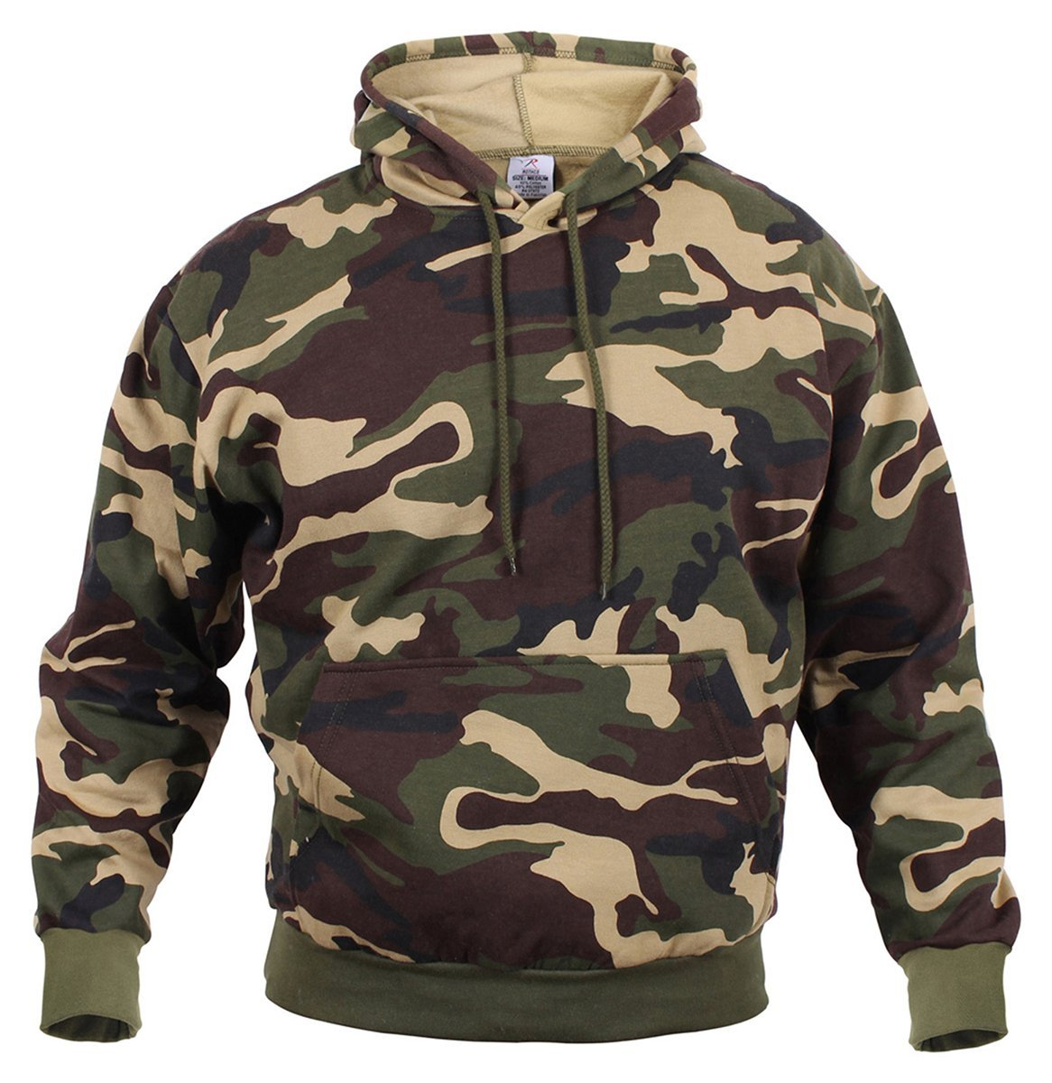 Rothco Camo Pullover Hooded Sweatshirt - Woodland Camo 8e62b3106ea