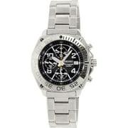 Seiko Men's SNA617 Silver Stainless-Steel Quartz Dress Watch