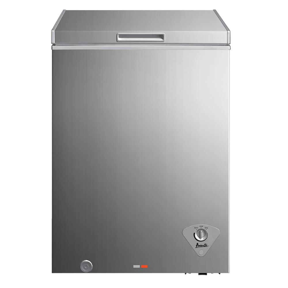 Avanti CF351D2P Platinum Finish 3.5 Cubic Foot Chest Freezer with Thermostat