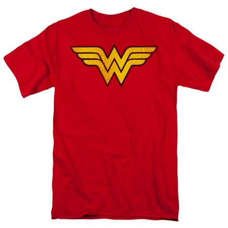 Wonder Woman - Wonder Woman Logo Dist Apparel T-Shirt - Red