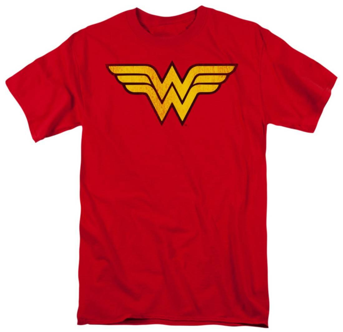 Wonder Woman - Wonder Woman Logo Dist Apparel T-Shirt - Red