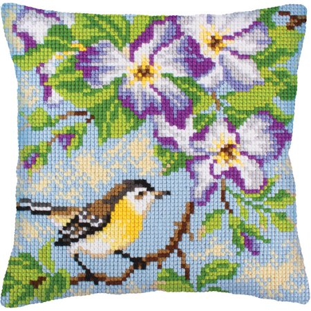 Collection D'Art Stamped Needlepoint Cushion Kit, 40cm x 40cm, Little Mouse On A Branch