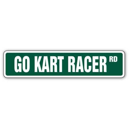 GO KART RACER Street Sign go-karts racing parts cart carts | Indoor/Outdoor | 24