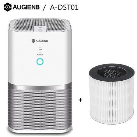 - AUGIENB Air Purifiers Cleaner Machine with 3in1 True HEPA Filter for Smoke Odors Allergies and Asthma PM 2.5 Eliminator Ozone Free Touch Control 2 Speeds Quiet