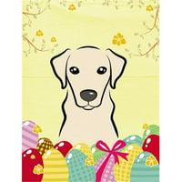 Yellow Labrador Easter Egg Hunt Flag Garden