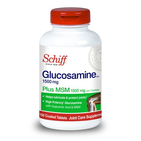 Schiff Glucosamine 1500mg Plus MSM and Hyaluronic Acid, 150 tablets - Joint Supplement