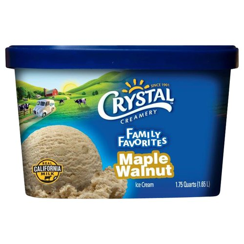 Crystal Creamery Maple Walnut Ice Cream, 1.75 quarts