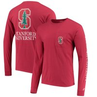 Stanford Cardinal League Vintage Wash Pocket Long Sleeve T-Shirt - Cardinal