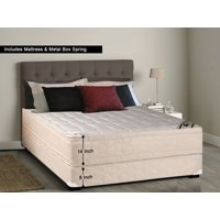 WAYTON, 14-inch Fully Assembled Firm Euro Top Innerspring Double Sided Mattress and Metal Box Spring/foundation set, |Twin Size|