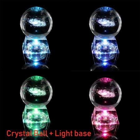 Laser Quartz Crystal - Miniatures Milky Way Galaxy Crystal Ball 3D Laser Engraved Quartz Glass Ball Home Decor Gift