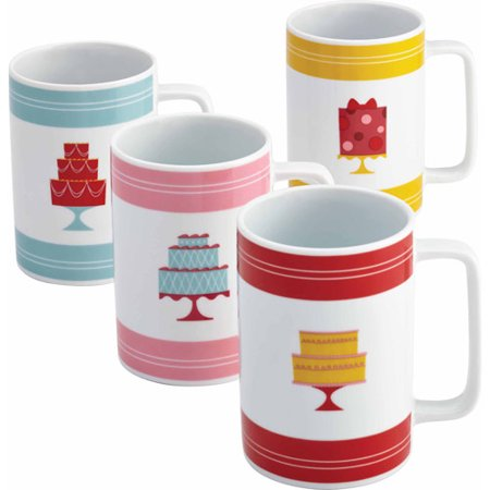 Cake Boss Serveware 4-Piece Mug Set, Multiple