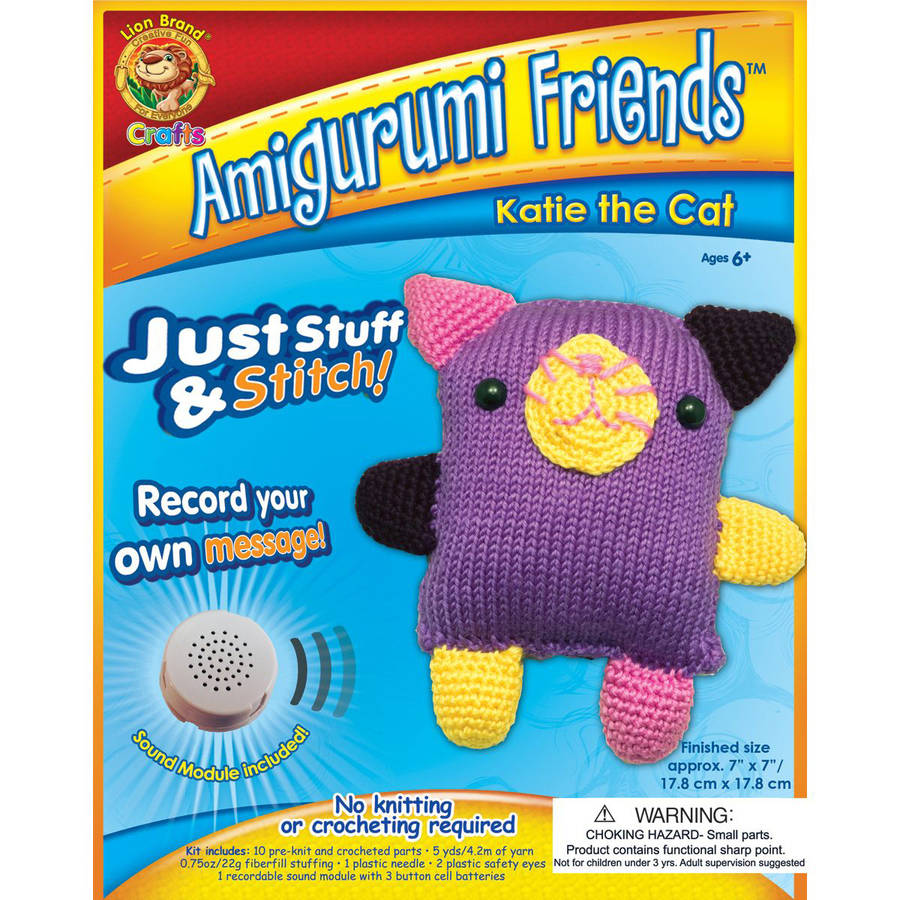 Lion Brand Amigurumi Friends Kit, Katie the Cat