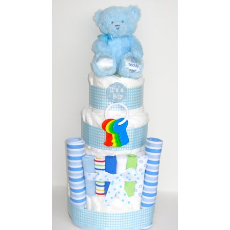 Its a Boy Baby Blues Diaper Cake - Dipper Cake