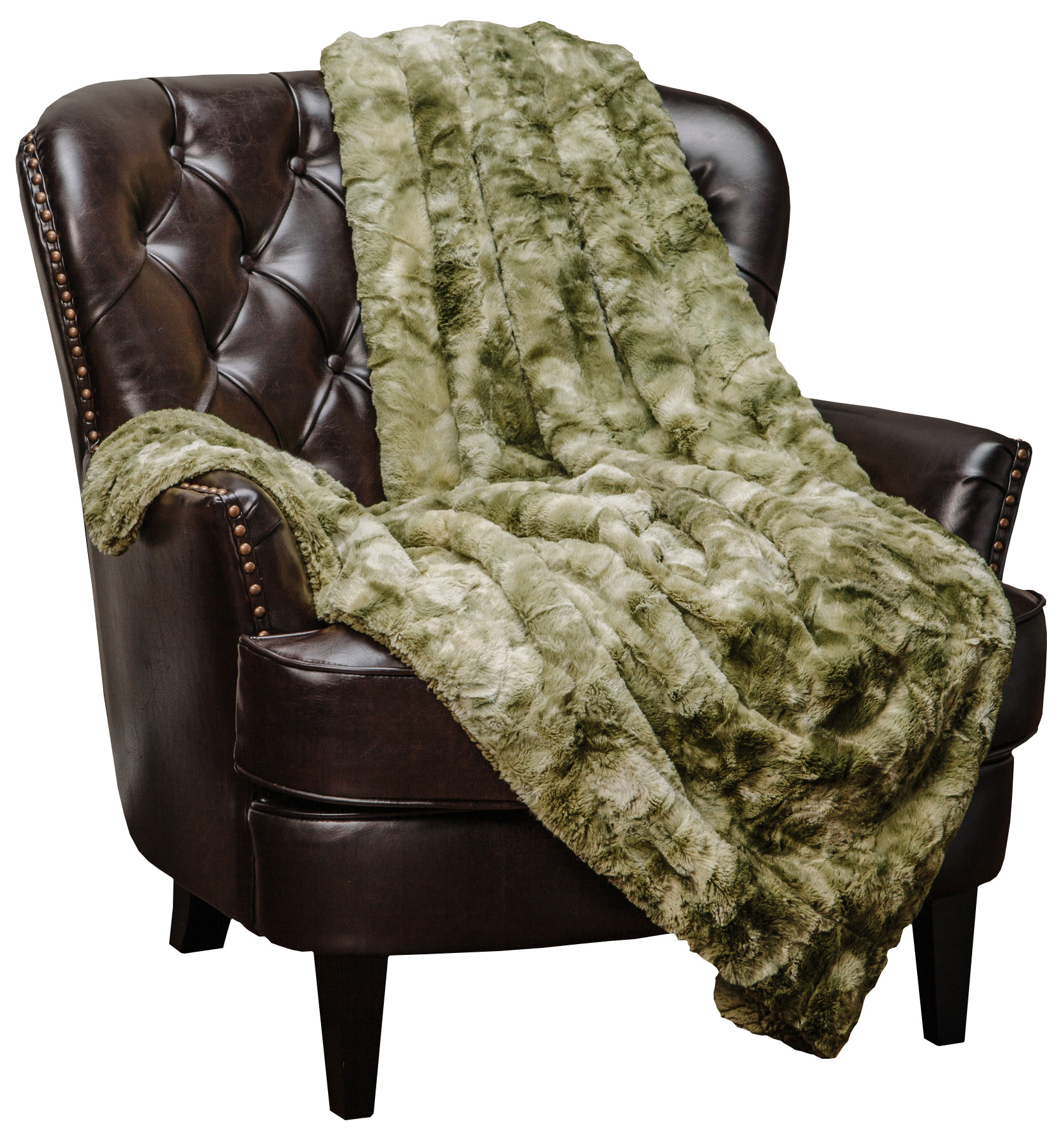 Chanasya Faux Fur Throw BlanketSuper Soft Fuzzy Light Weight Luxurious Cozy W