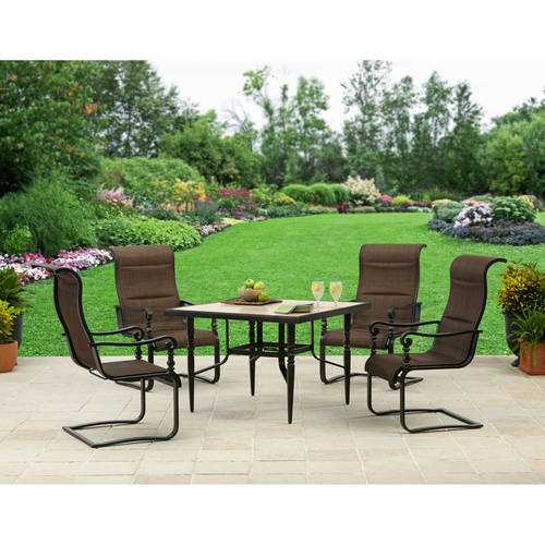 Better Homes and Gardens Cedar Crest Aluminum and Marble 5pc Dining Set