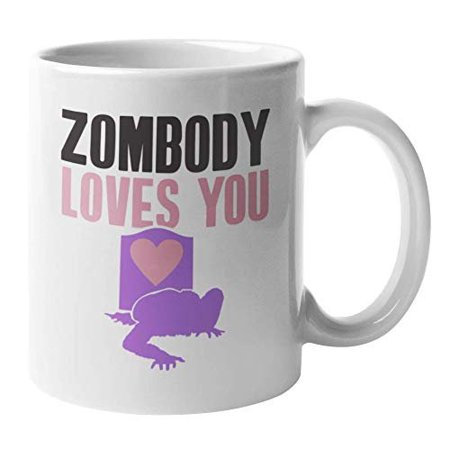 Zombody Loves You Funny Romantic Halloween Pun Coffee & Tea Gift Mug For A Daughter, Girlfriend, Wife, Spouse, Fiancee, Mom, Grandma, Aunt, Niece, Granddaughter, Bestfriend, Other Girls & Women (11oz)](Aunt Viv Halloween)