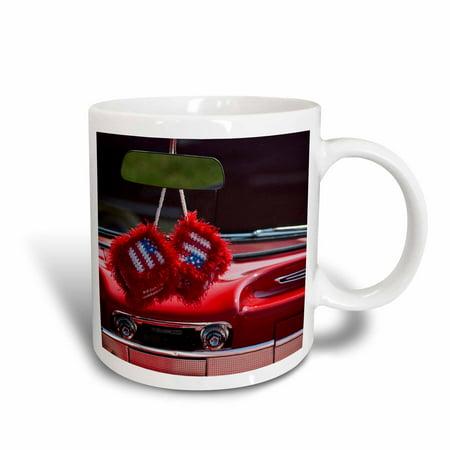 3dRose Massachusetts, Dice in 1950s classic car - US22 WBI0770 - Walter Bibikow, Ceramic Mug, 11-ounce