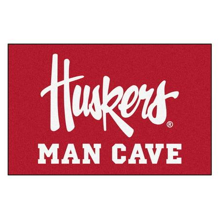 Nebraska Huskers Man Cave Starter Rug 19
