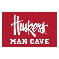 "Nebraska Huskers Man Cave Starter Rug 19""x30"""