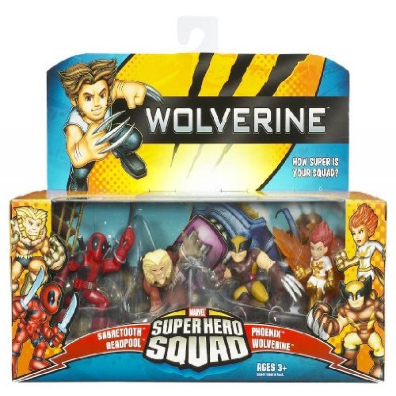 Marvel Super Hero Squad: Wolverine The Uncanny X-Men, Action Figure 4-Pack by Hasbro, Inc.