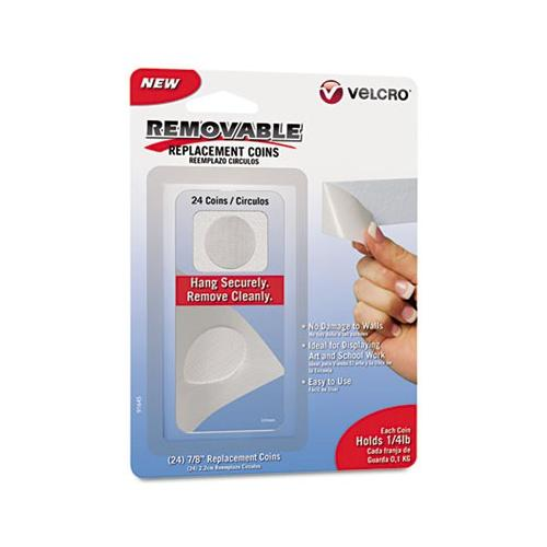 Velcro Removable Light Duty Hook and Loop Fasteners, 24 Coins