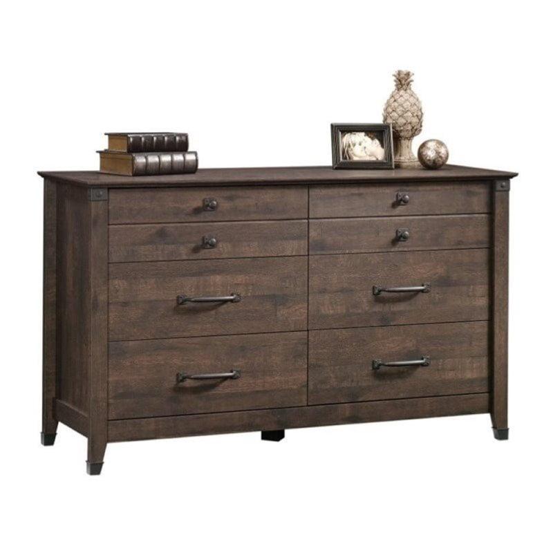 Pemberly Row 6 Drawer Dresser in Coffee Oak