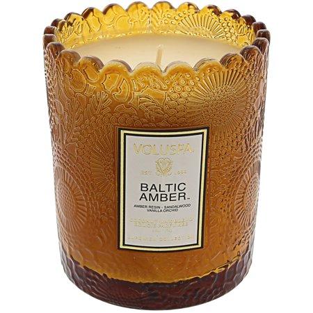 Voluspa Baltic Amber Boxed Scalloped Candle VOL-7203