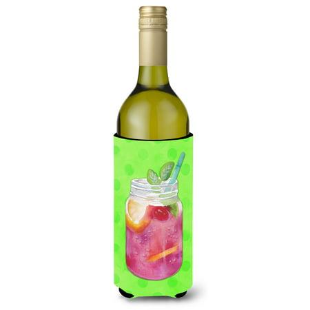 Mason Jar Cocktail Green Polkadot Wine Bottle Beverge Insulator Hugger BB8250LITERK](Mason Bottles)